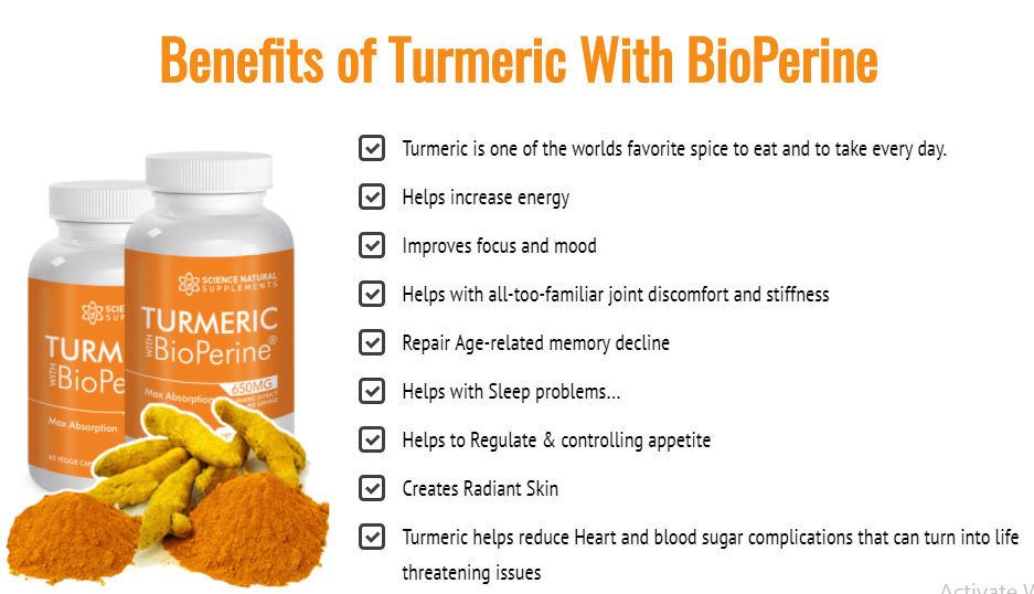 Science Natural Turmeric Bioperine