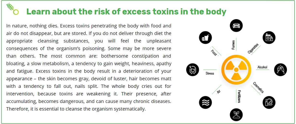 excess toxins in the body