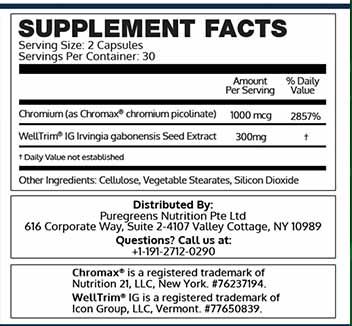 Bioleptin ingredients