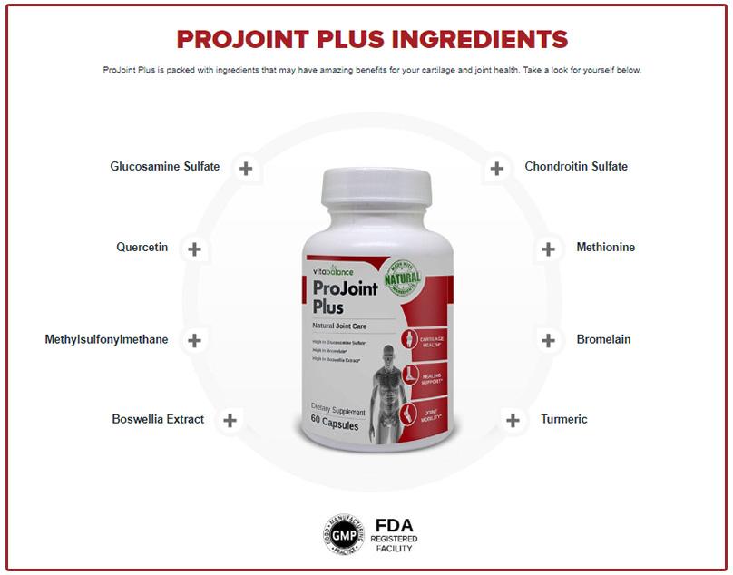 Ingredients of ProJoint Plus