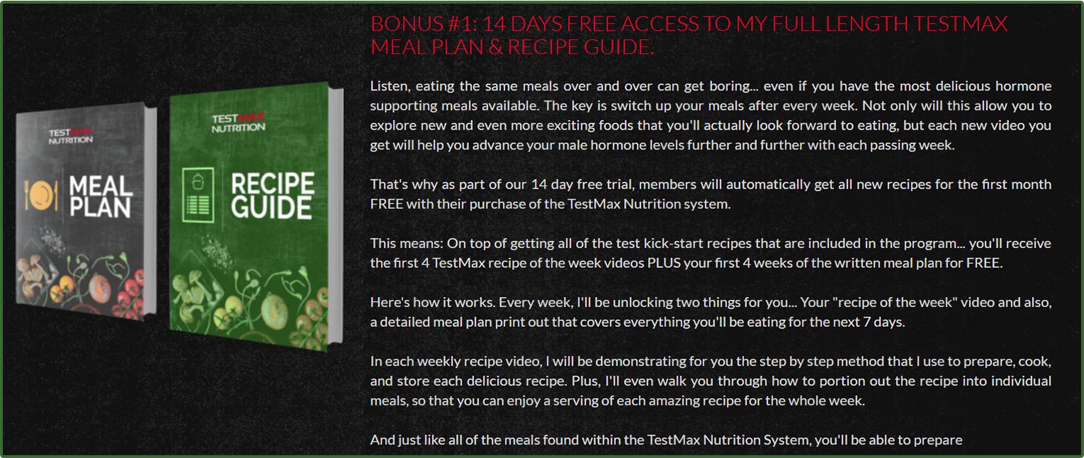 Testmax nutrition bonus