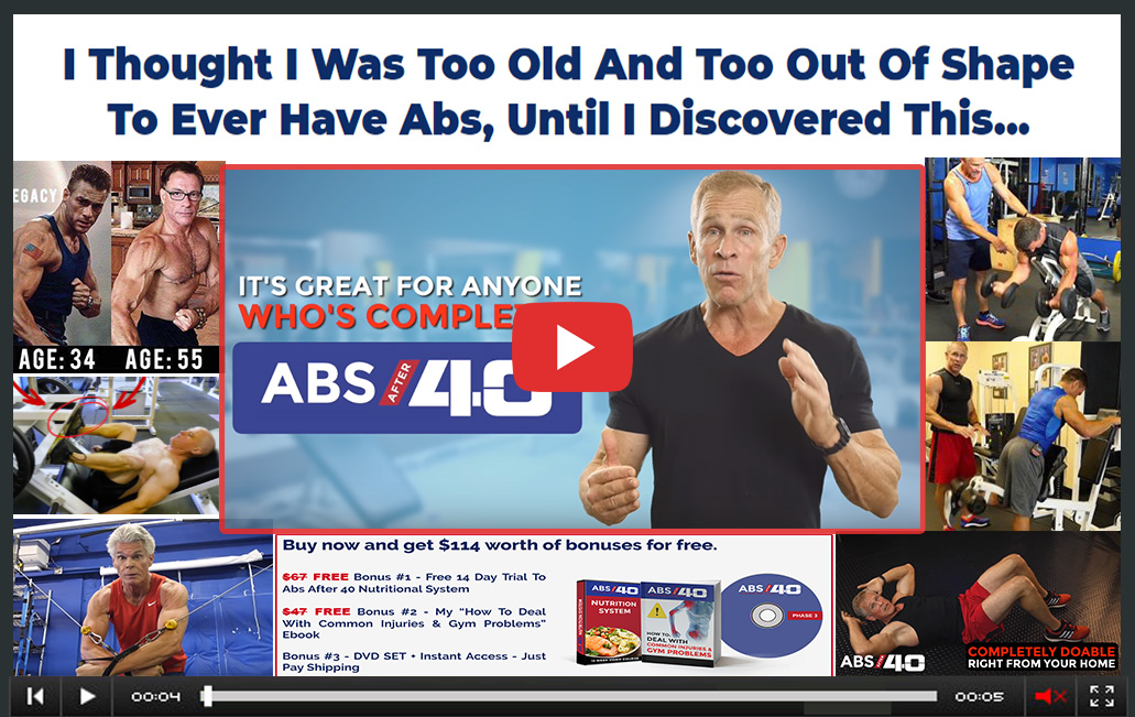 abs after 40 exercises