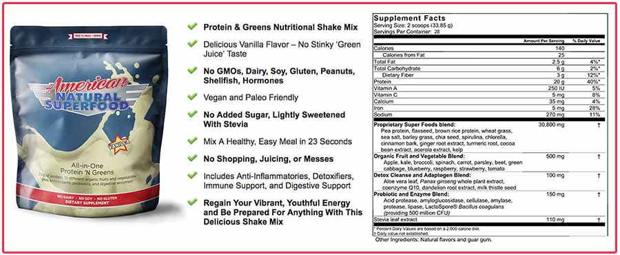 American Natural Superfood supplement