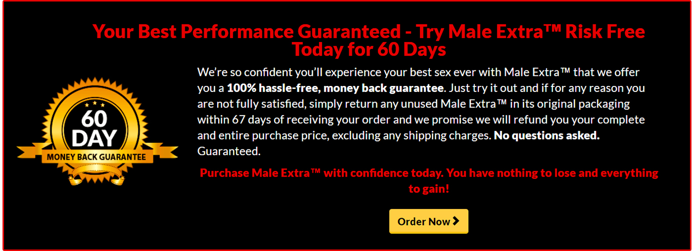 Male Extra guarantee