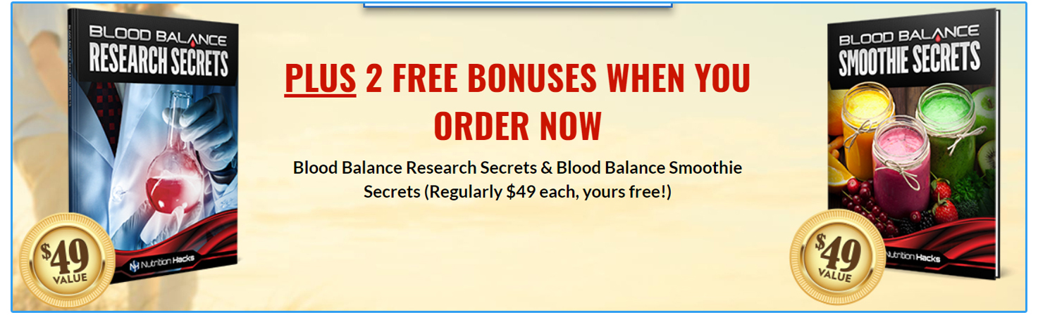 Nutrition hacks Blood Balance Formula bonus