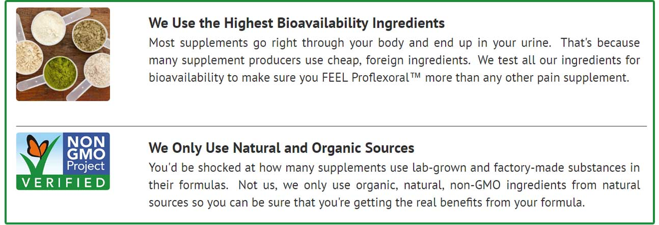 Proflexoral Ingredients