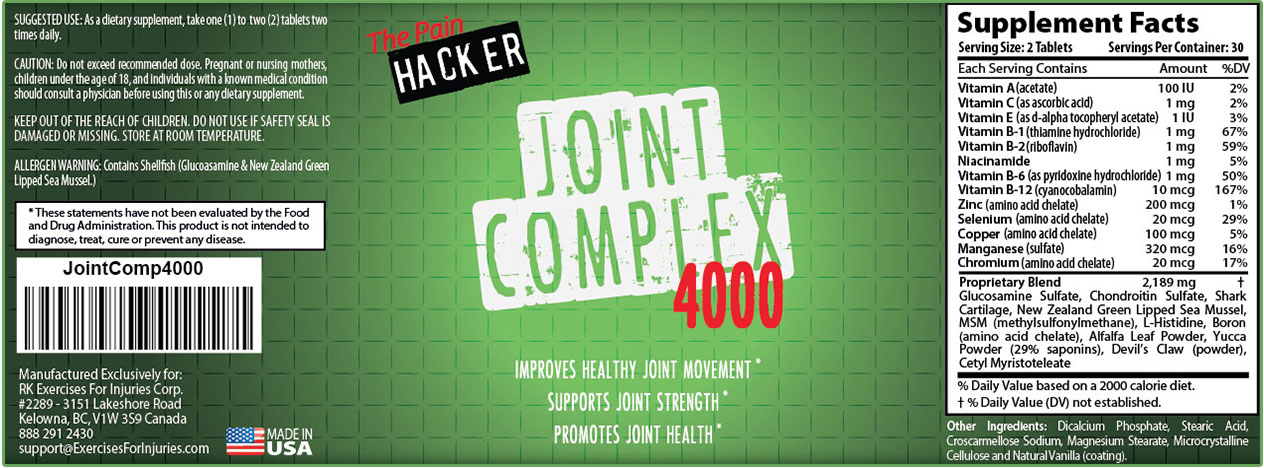 PainLess Nutritionals Joint Complex 4000