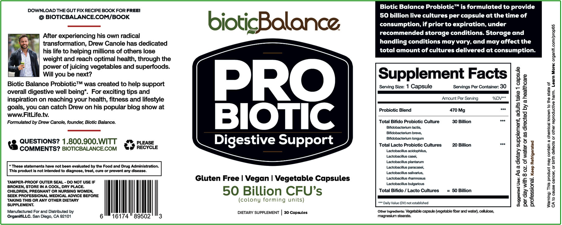Biotic Balance Probiotics Ingredients