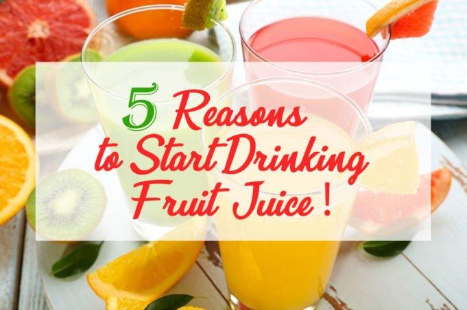Drinking Fruit Juice