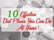Effective Diet Plans