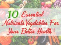 Essential Nutrients Vegetables