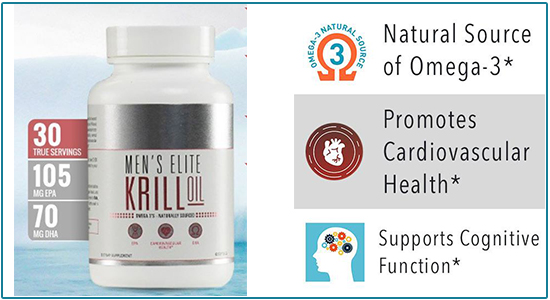 Men's Elite Krill Oil Ingredients