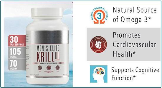 Men's Elite Krill Oil Ingredients