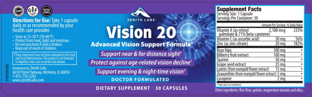 The Vision 20 supplement