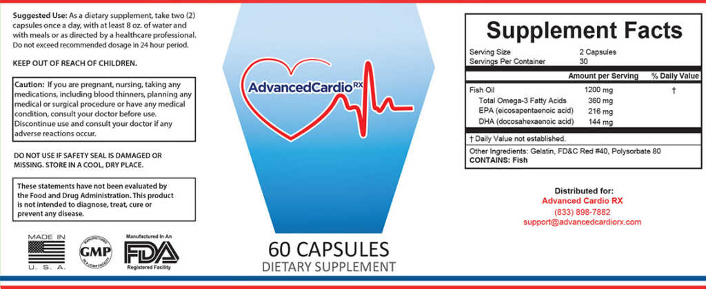 Advanced Cardio RX Ingredients