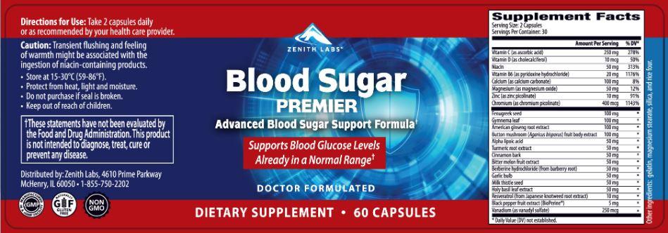 Blood Sugar Premier Ingredients