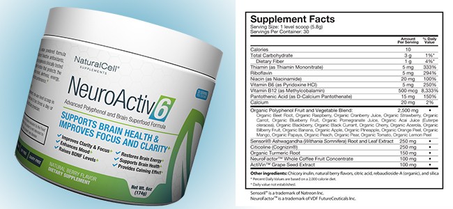 NeuroActiv6 Ingredients
