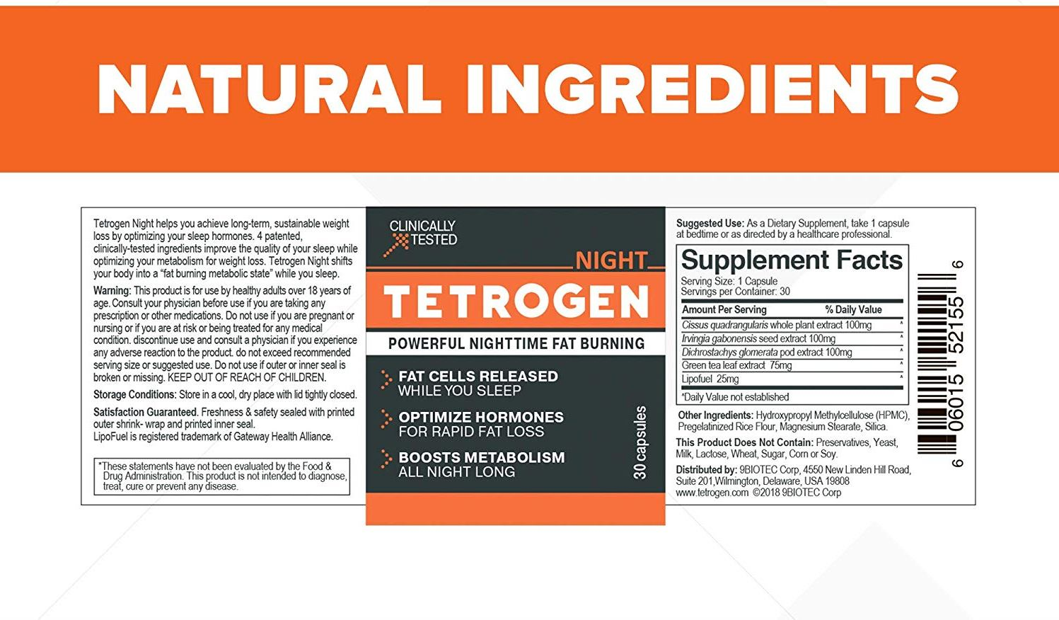 Testrogen Ingredients