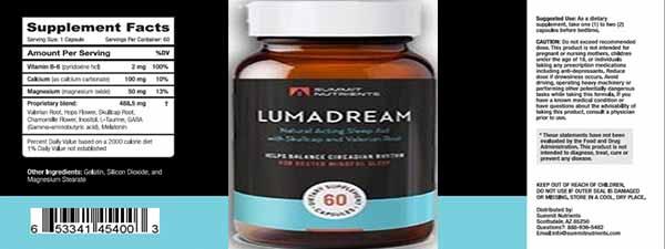 Lumadream supplement