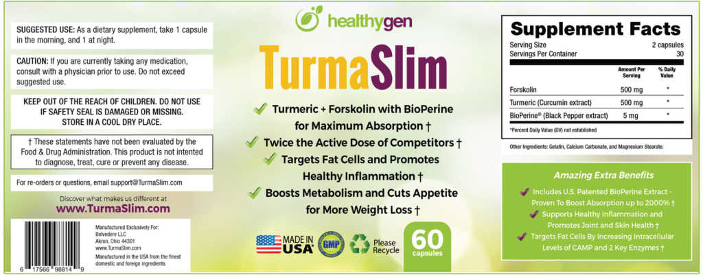 TurmaSlim supplement fact