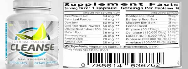 herbal parasite cleanse ingredients