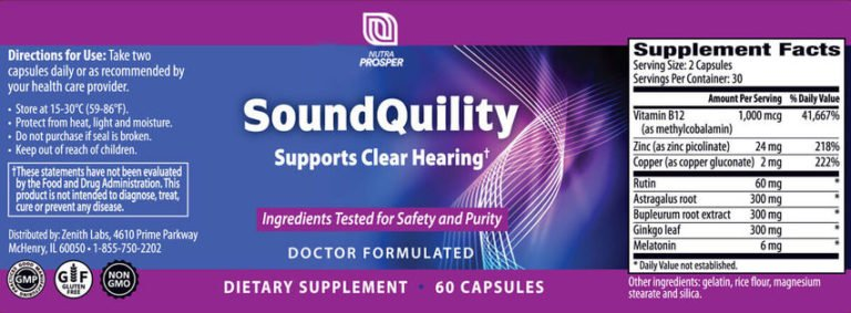 SoundQuility ingredients