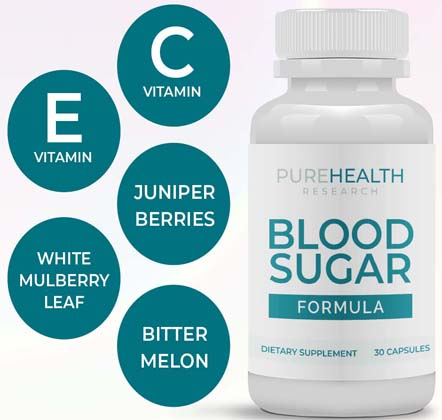 pure health research blood sugar formula