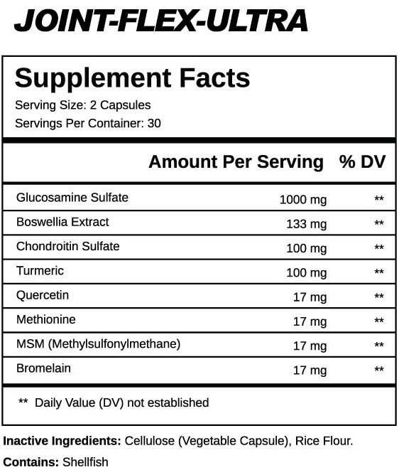 Joint Flex Ultra Ingredients