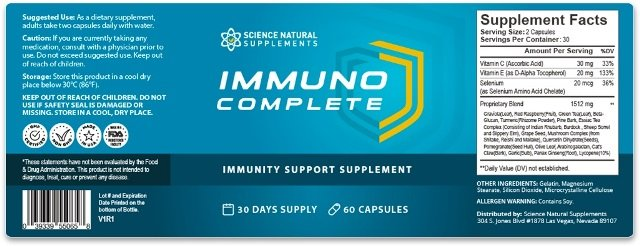 Immuno Complete ingredients
