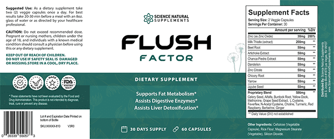 Flush Factor ingredients