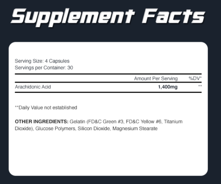 Enhanced Arachidonic Acid Ingredients