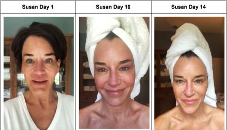 Prime Greens with Collagen before and after