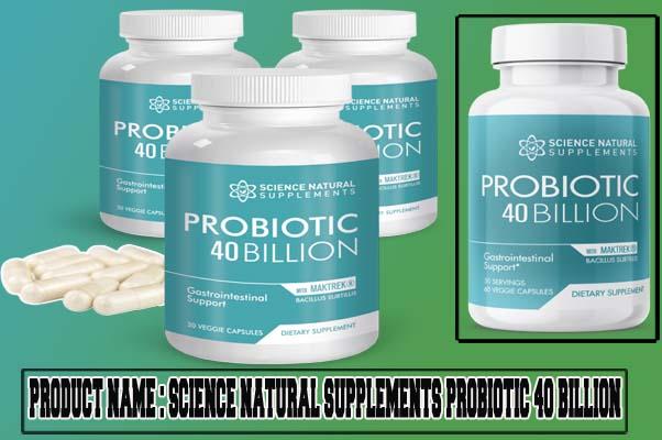 Science Natural Supplements Probiotic 40 Billion