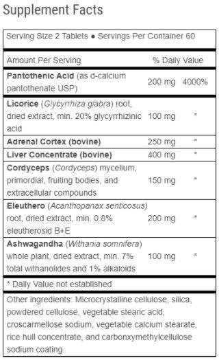 Advanced Adrenal Factor Ingredients