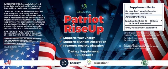 Patriot Rise Up supplement Fact