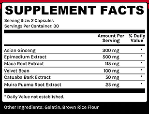 Stone Force ingredients