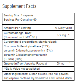 Curcumitol Q supplement Facts