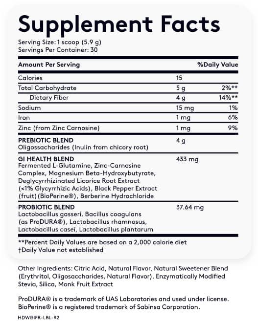 Multi GI 5 ingredients