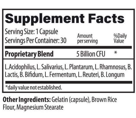 Probio Lite supplement Facts