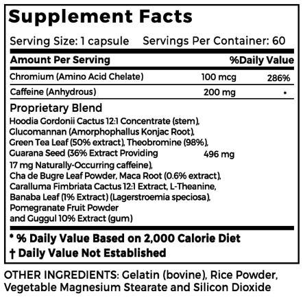 Slim R 360 supplement Facts