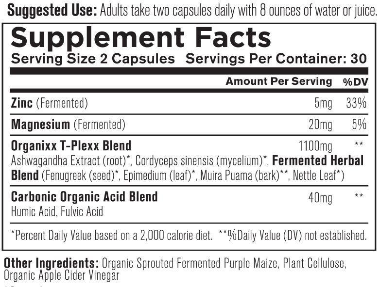 T-Plexx Supplement Facts