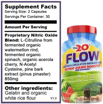 The 20 Flow Supplement Facts