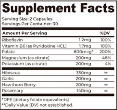 Lion HRT Supplement Facts