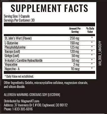 Magnum XT Supplement Facts
