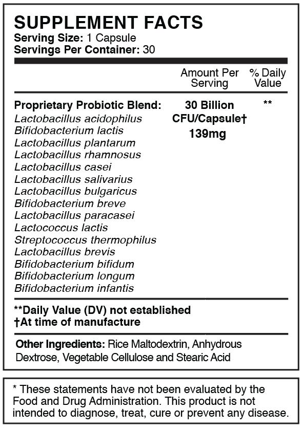 Prefect Biotics Supplement Facts
