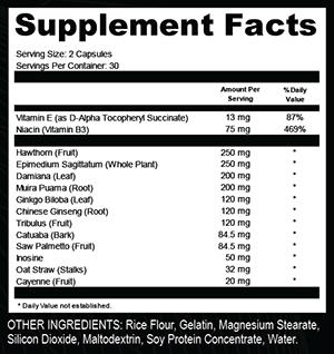 Triple Euphoric Pro supplement Facts