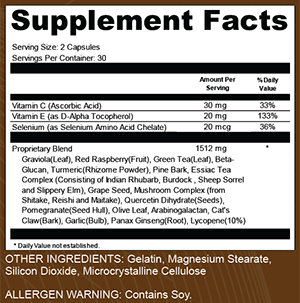 Triple Fungus Blast supplement Facts
