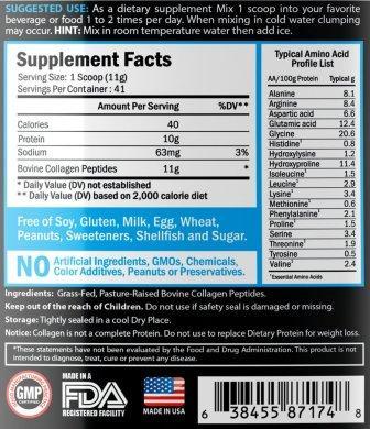 Kylea Collagen Peptides Supplement Facts