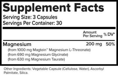 MagTech Supplement facts