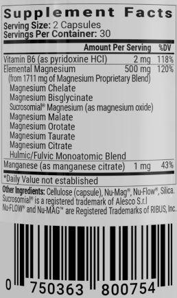 Magnesium Breakthrough Supplement Facts
